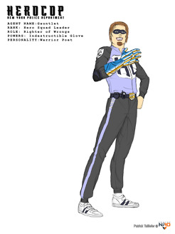 <p><strong>HEROCOP AGENT : GAUNTLET</strong></p> <p>Character design exercice based on HEROCOP personnal project.</p>
