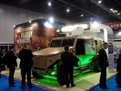 International Armored Vehicles Display, London, UK - booth design and show planning and execution