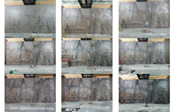 <p>Purple quartzite mural for Convention Center in Verona, Wisconsin. &nbsp;Charcoal, acrylic glazes. Approx 16'x30'</p>
